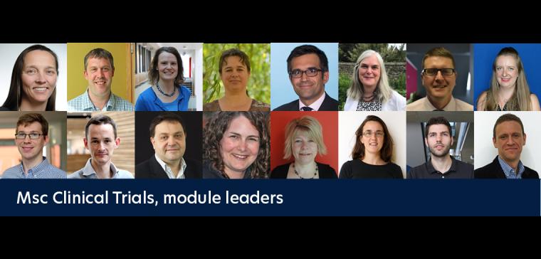 MSc Clinical Trials module leaders
