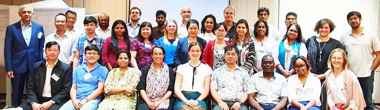 Group photo of the Critical Care Asia Network