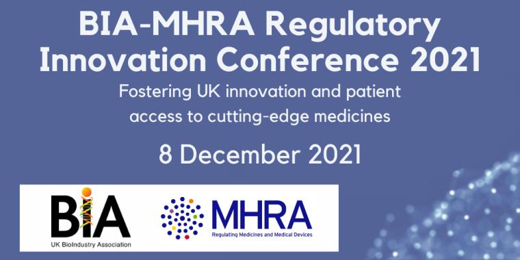 BIA-MHRA Regulatory Innovation Conference 2021 Flyer