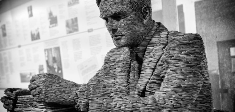 Computer generated Image of Alan Turing