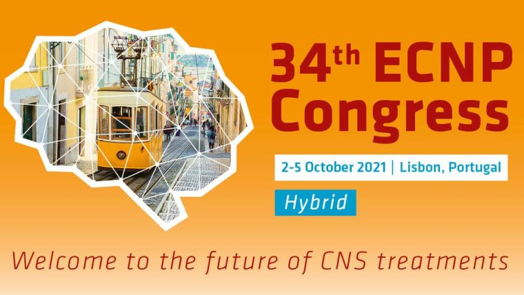 Banner image of the 34th ECNP conference 2-5 October 2021, saying 'Welcome to the future of CNS treatments'
