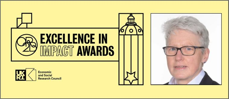 O²RB Excellence in Impact Awards logo and profile picture of Professor Trish Greenhalgh