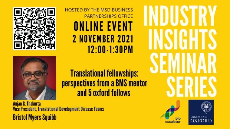 Industry Insights Seminar Series November 2021 Flyer