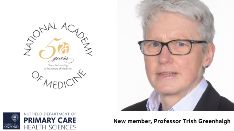 Prof Trish Greenhalgh elected as new member of the National Academy of Medicine