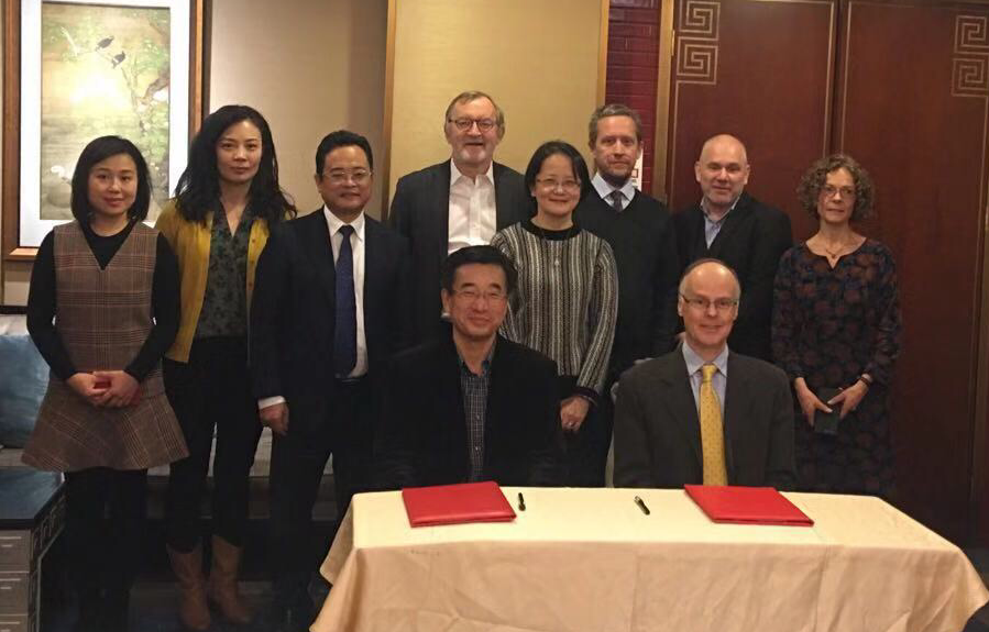 L-R back - Chunyan Jia, Chen Wu, Jianwei Wang, Chris Conlon, Tao Dong, Chris Price, Darren Nash, Carolyn McKee. L-R front: Chen Wang (President of CAMS) and Richard Liwicki