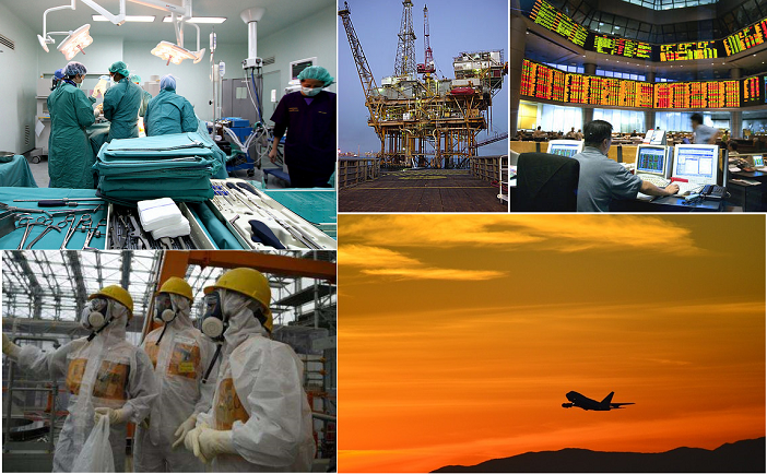 Managing risk and improving safety in healthcare and other industries.