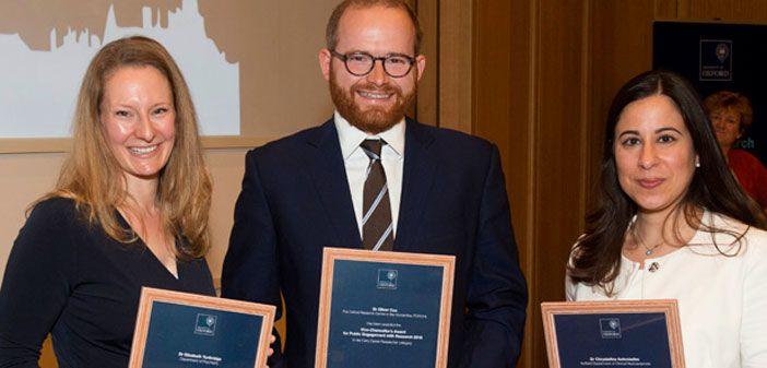 Elizabeth Tunbridge wins a Vice Chancellor's Award for Public Engagement with Research