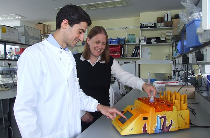 Scientist receives new lab equipment following prize draw