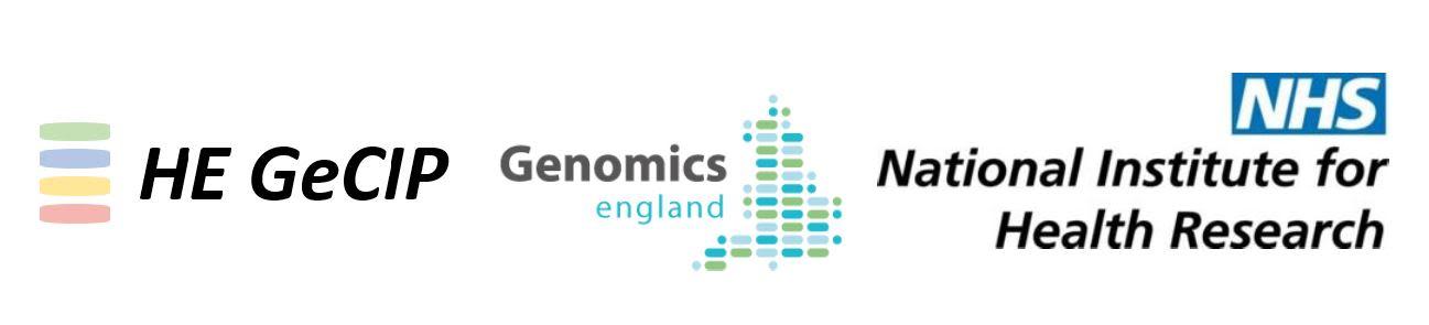 Genomics England Clinical Interpretation Partnership (GeCIP) - Project Announcement