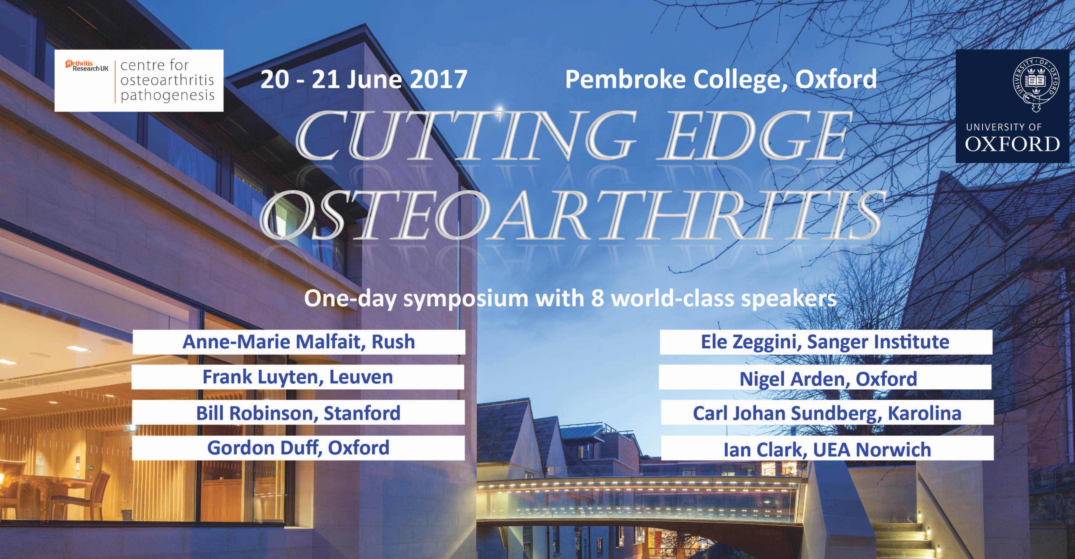 Register for the biennial Cutting Edge Osteoarthritis symposium organised by the Kennedy Institute