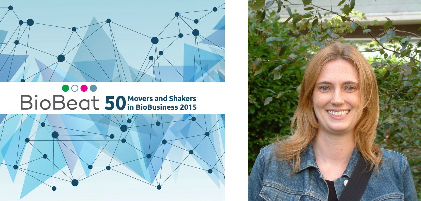 Professor of Matrix Biology Kim Midwood, of the Kennedy Institute of Rheumatology, NDORMS has been named in the BioBeat 2015 Movers and Shakers report.