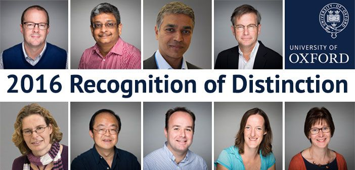 We are delighted to announce that several NDORMS staff have been recognised in this year's Recognition of Distinction Awards made by the University of Oxford.