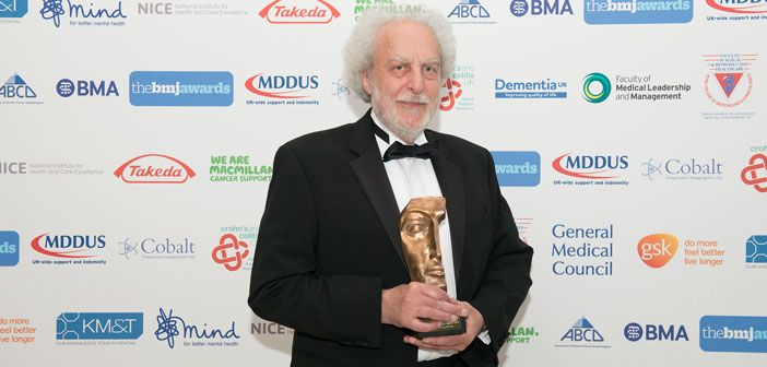 Professor Doug Altman, founding director of the Centre for Statistics in Medicine at NDORMS has received The BMJ Lifetime Achievement Award 2015 last night.