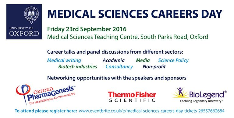 Sign up now for the Medical Sciences Careers Day