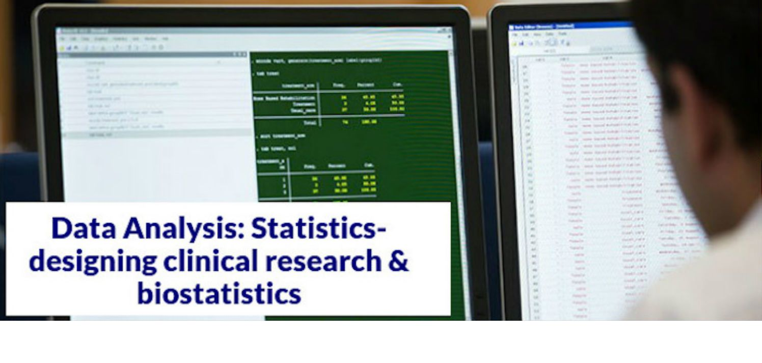 Designing clinical research and biostatistics course