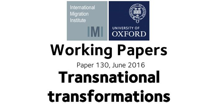 Working paper: Exploring relationship between migration and change
