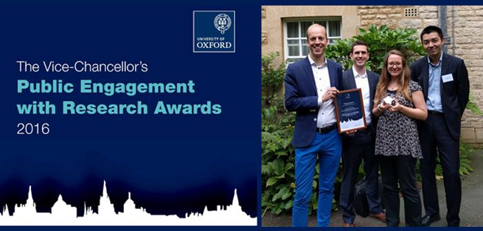 Alexander Betts and the HIP team win Vice Chancellor's Award for Public Engagement with Research