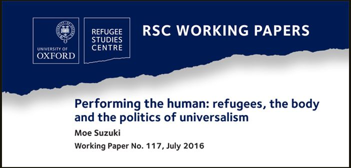 New working paper on refugees, the body, and the politics of universalism