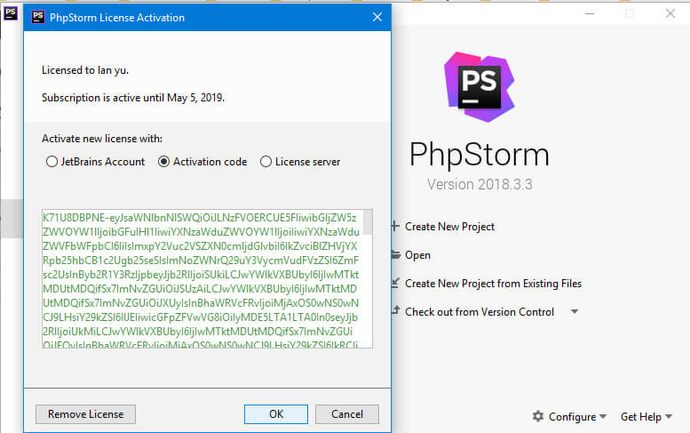 Active PhpStorm 2019 với License key - Full
