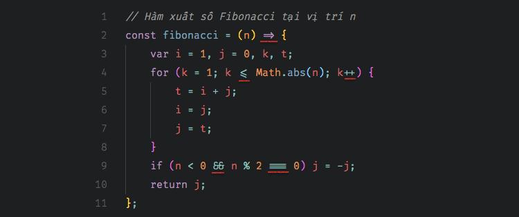 Font Fira Code và ligature