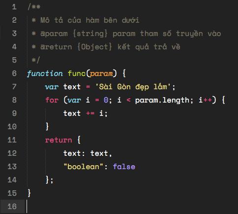 Font Space Mono hiển thị trên Sublime Text kích cỡ 15px
