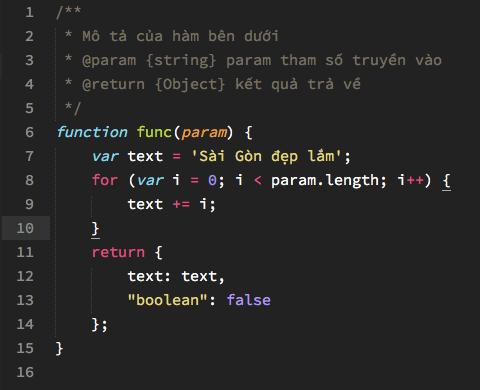 Font Source Code Pro (Regular) hiển thị trên Sublime Text kích cỡ 15px