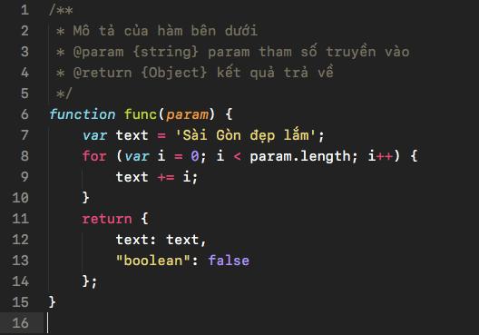 Font SF Mono (Regular) hiển thị trên Sublime Text kích cỡ 15px