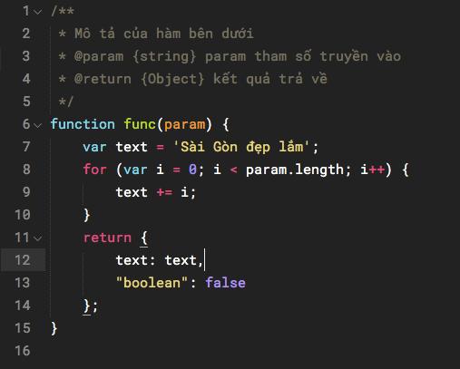 Font Roboto Mono (Regular) hiển thị trên Sublime Text kích cỡ 15px