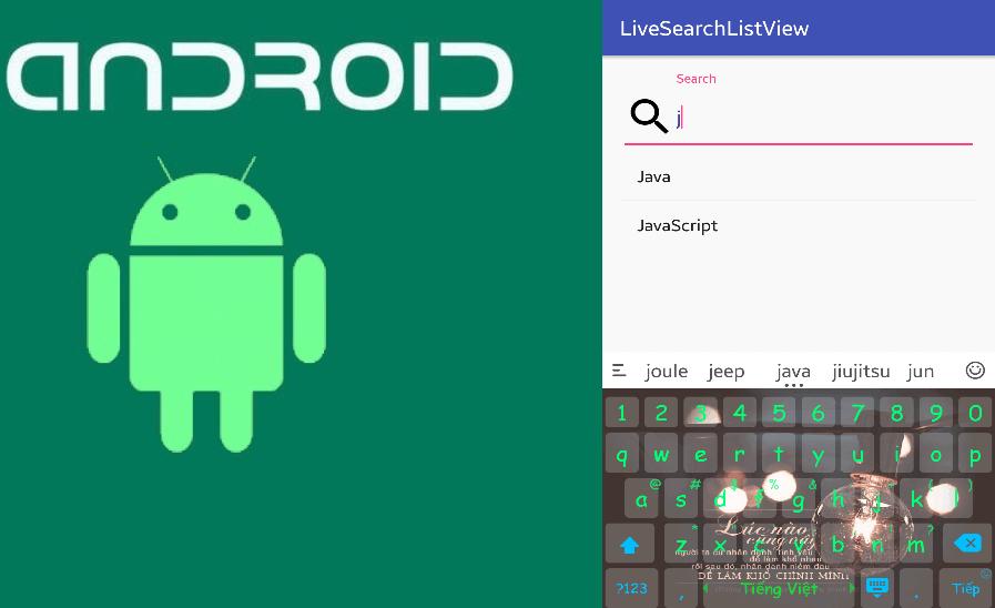 Tìm kiếm trên listview android
