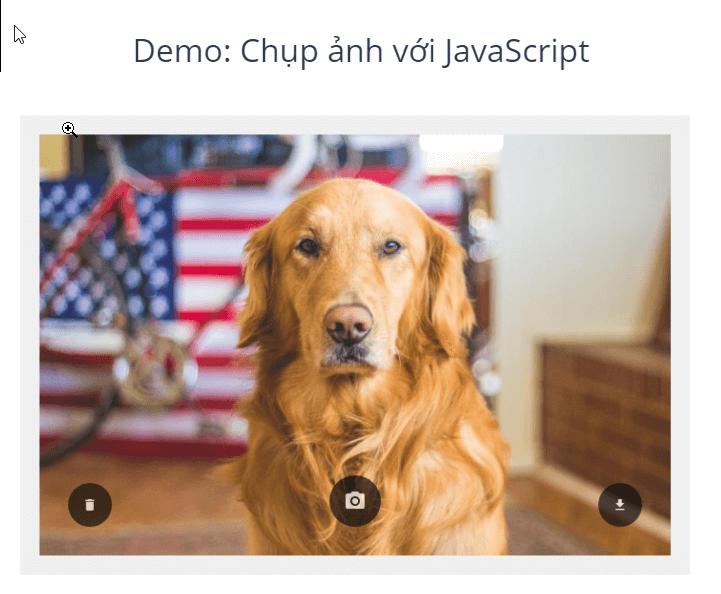 Demo chụp ảnh tự sướng với JavaScript trên JSfiddle