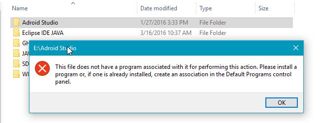Lỗi mở thư mục - Mở thư mục thay đổi từ Open thành Cmd