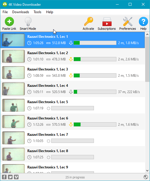 Tải Playlist Video Youtube với phần mềm 4K Video Downloader