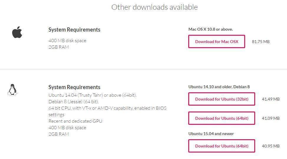 Tải về và cài đặt Genymotion trên Mac OS hay Ubuntu