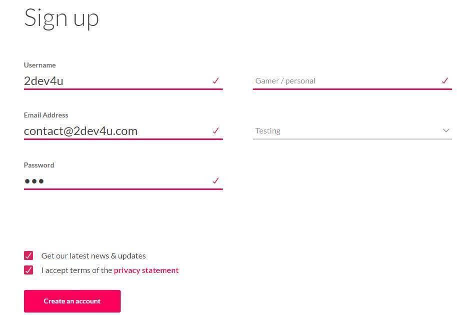 Hướng dẫn đăng ký tài khoản Genymotion
