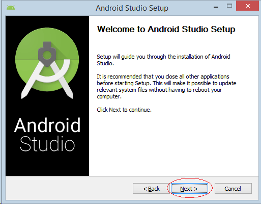 Chạy file android-studio-bundle