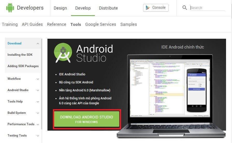 Hướng dẫn tải và cài đặt Android Studio