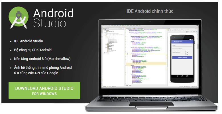 Công cụ hỗ trợ lập trình và phát triển ứng dụng Android