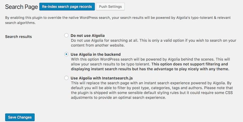 Tích hợp Algolia với WordPress