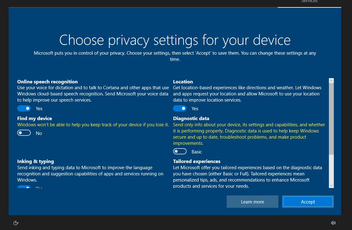 Lần truy cập đầu tiên nó sẽ xuất hiện bảng chọn chế độ riêng tư, bạn cũng không cần quan tâm –> Accept