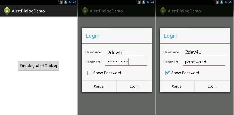 Tạo AlertDialog với Custom Layout sử dụng XML Layout
