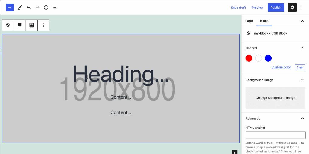 Create a Gutenberg Background Image