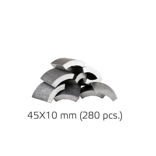 Half-moon track repair kit 45x10mm (280 pcs.) (BM000939)