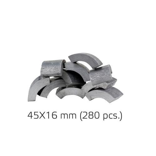 Half-moon track repair kit 45x16mm (280 pcs.) (BM000940)