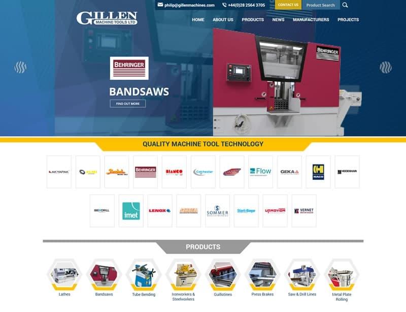 Gillen Machine Tools Ltd New Website Launched