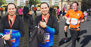 left: 2015 Amsterdam Half Marathon – right: 2015 Paris marathon