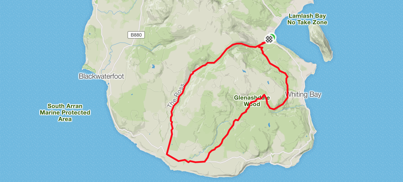 run from lamlash to kilmory and back