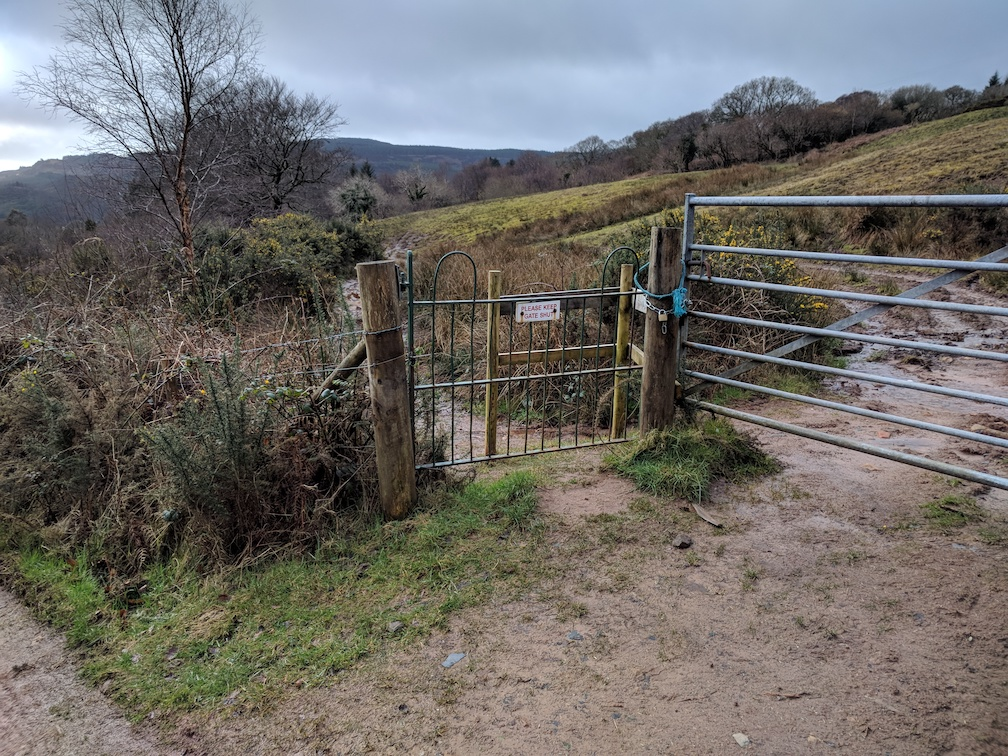 gate and footpath near knockenkelly