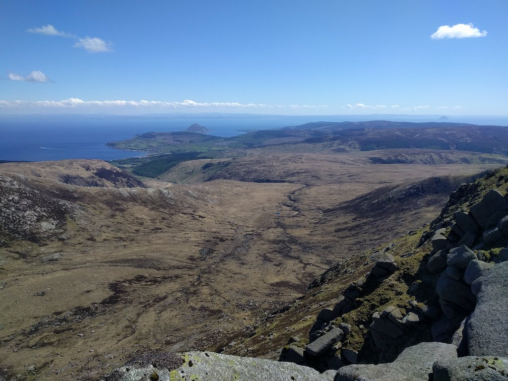 view down coire a bhradain on arran