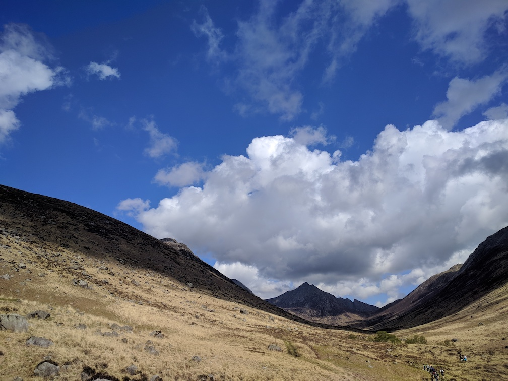 view up glen rosa on isle of arran