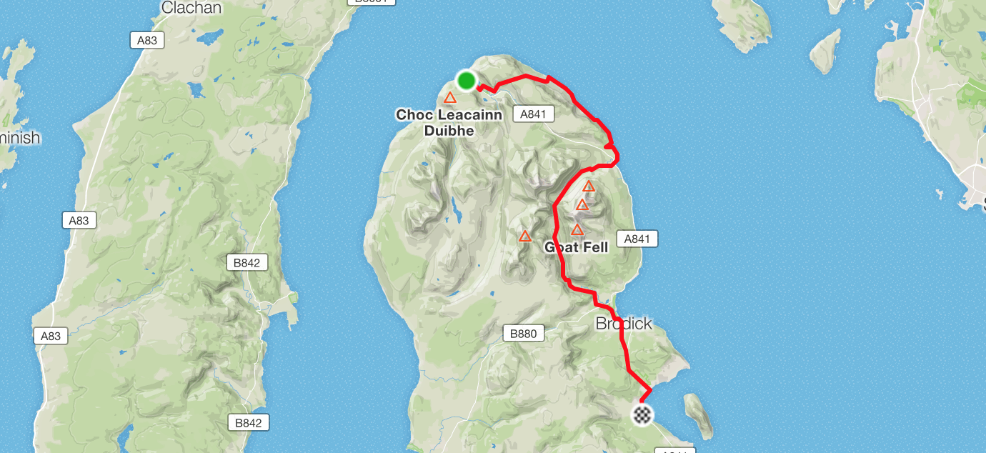 running from lochranza to lamlash